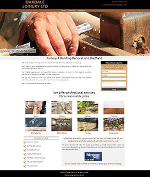 Oakdale Joinery Sheffield Website