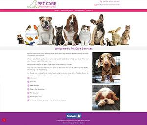 Pet Care Services Website