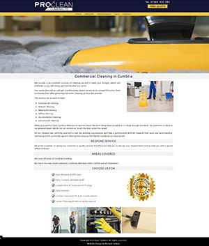Pro Clean Cumbria ltd Website