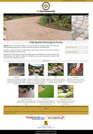 PS Driveways Website